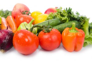 skin of veggies